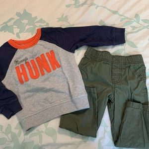 ⭐️3/$25⭐️ Carter's boys two piece set size 2t